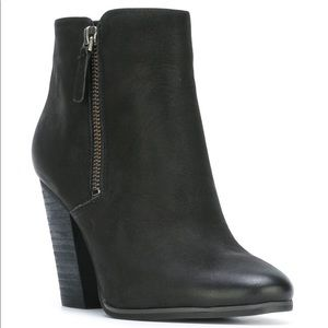 Michael kors ankle black leather booties